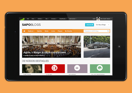 SAPO Blogs screenshot